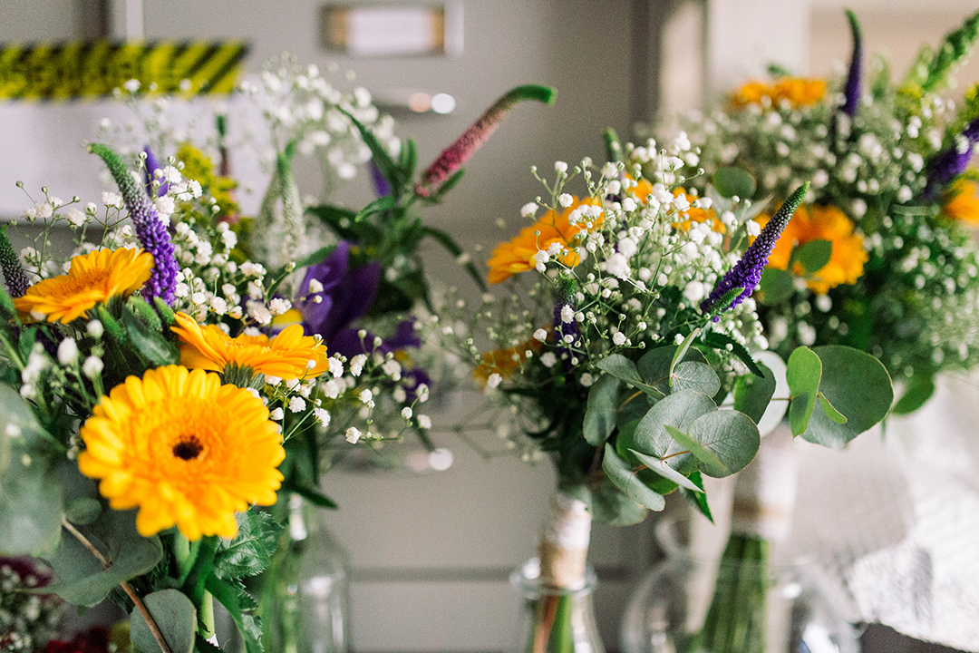 bright colourful flowers for wedding bouquets