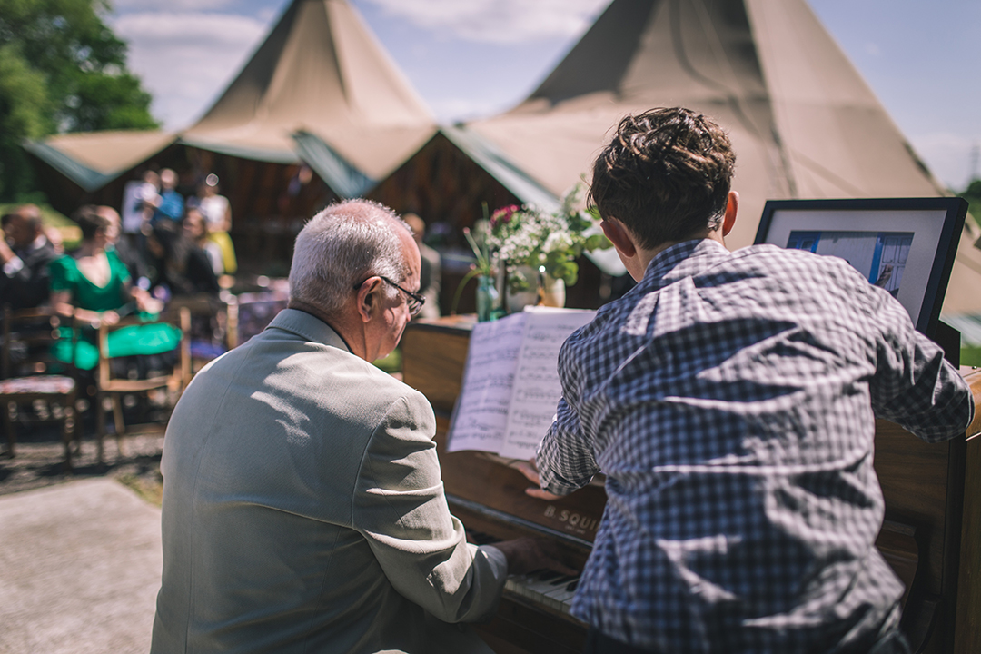 live ceremony music at a festival style wedding