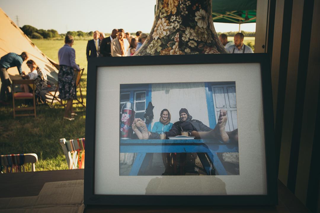 wedding decor ideas at a festival style wedding