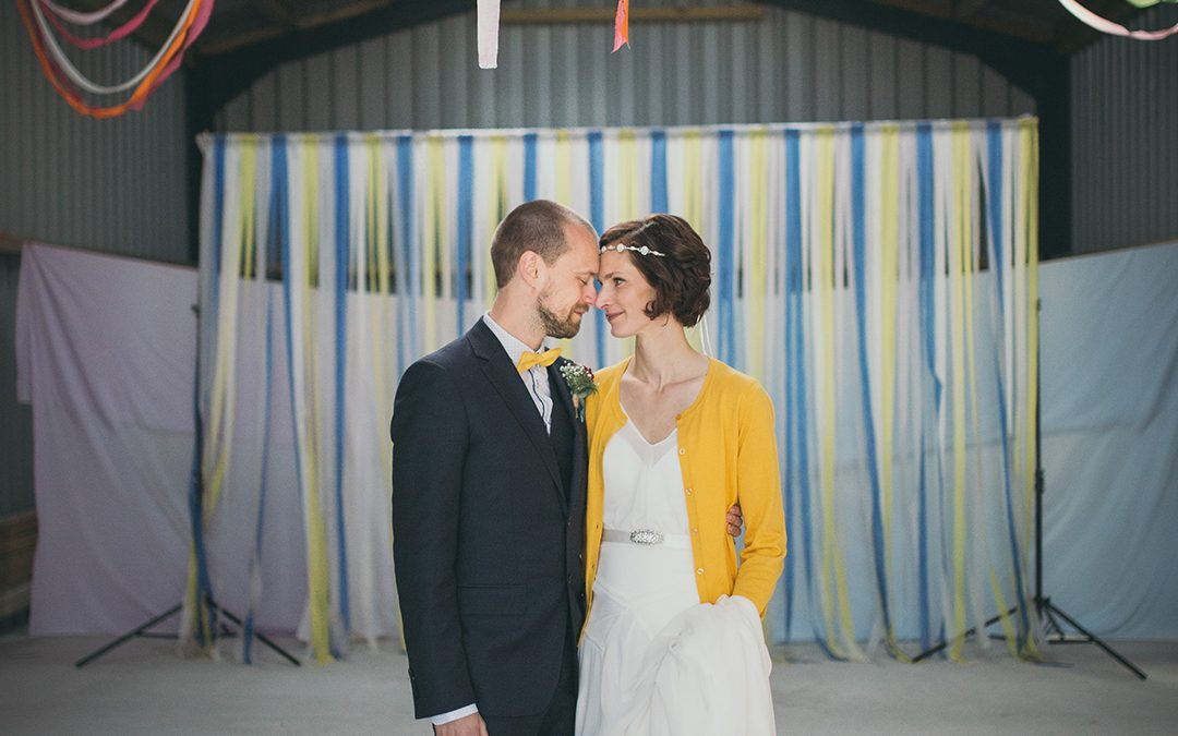 Helen and David's Homemade Festival Wedding on a Farm