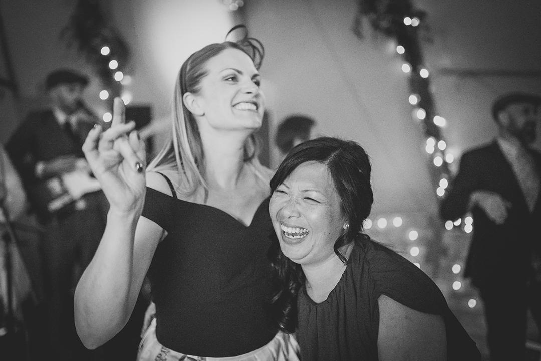 guests dancing at a festival wedding