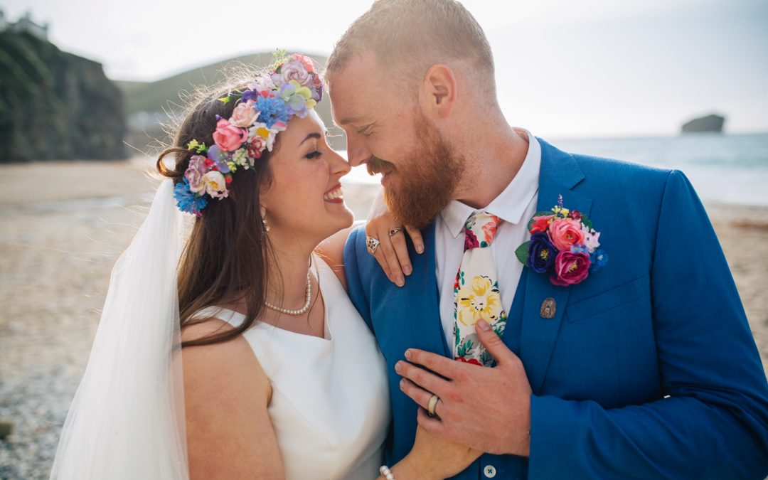 Kim and Sam's Crafty, Bright and Colourful Cornish Wedding