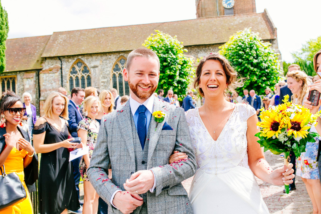festival-bride-and-groom-just-married-glastonbury-festival-wedding-els-photography