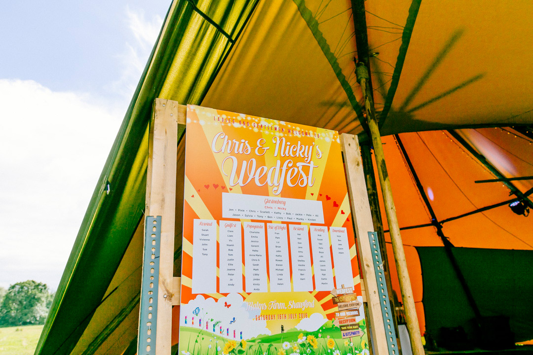 table-plan-stationery-by-wedfest-glastonbury-themed-festival-wedding-els-photography