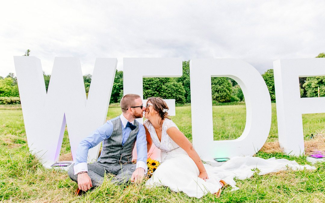 Chris & Nicky's Glastonbury Inspired Festival Wedding