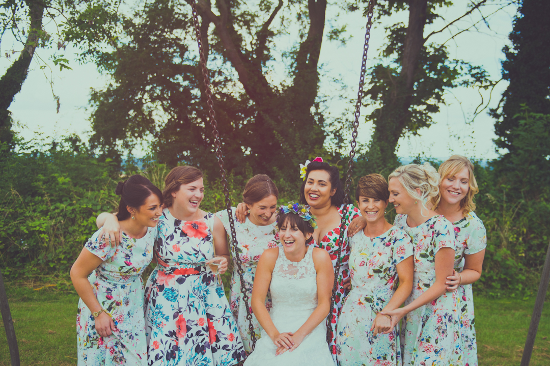 festival-bride-with-bridesmaids-vicky-and-james-wedfest