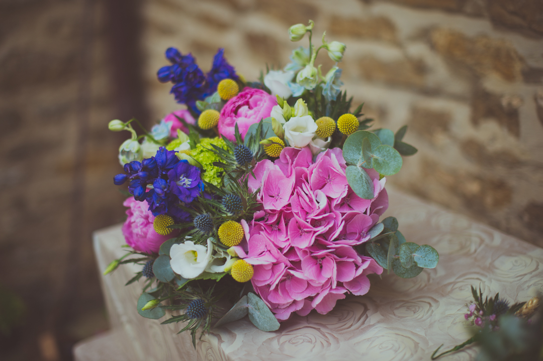 bright-wild-flower-bouquet-vicky-and-james-festival-wedding