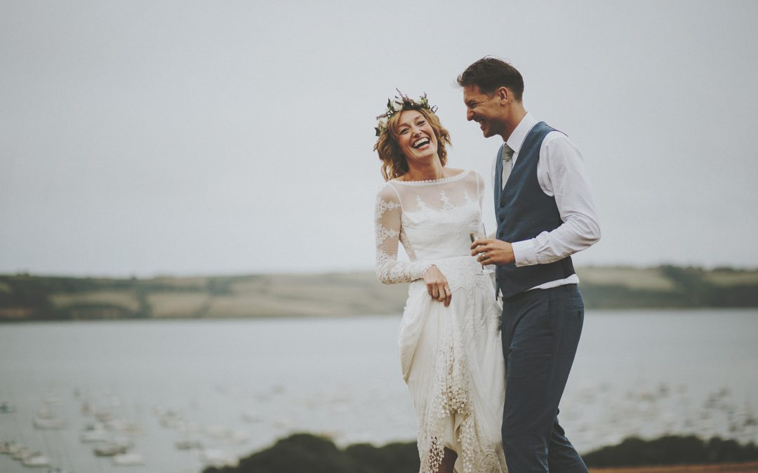 Julie & Andrew's Relaxed Bohemian Tipi Wedding in Cornwall