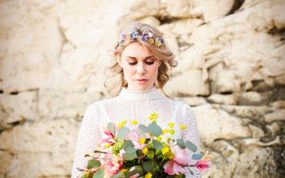 70's Inspired Bohemian Styled Wedding Shoot On The Beach