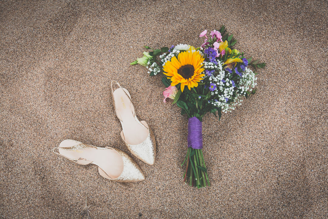 sunflower-bouquet-festival-style-wedding-in-devon-alexa-pope-photography