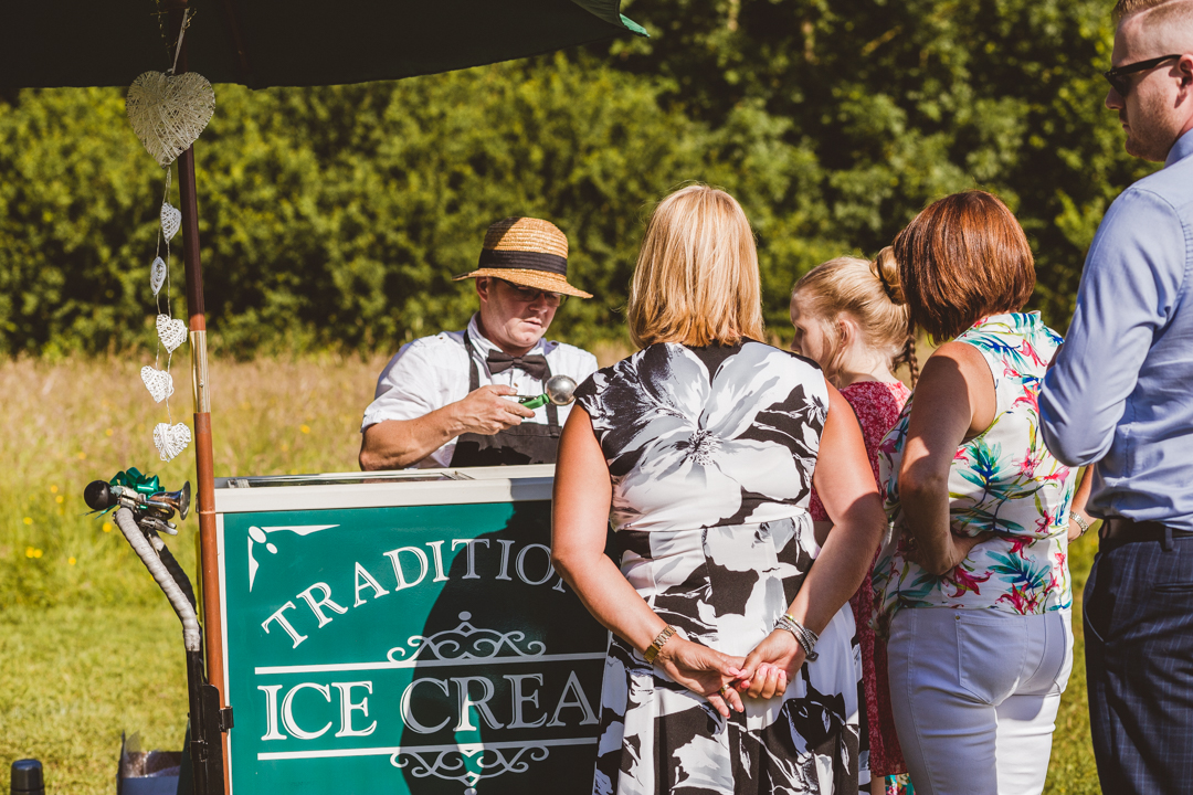 ice-cream-bike-jen-and-mat's-festival-wedding-at-Scraptoft farm