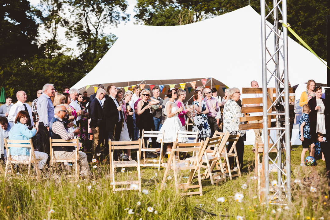 speeches-jen-and-mat's-festival-wedding-at-Scraptoft farm