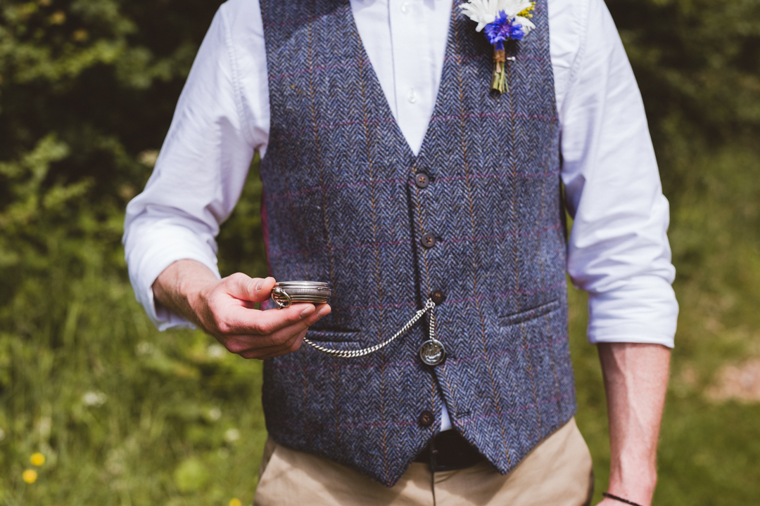 groom-style-jen-and-mat's-festival-wedding-at-Scraptoft farm