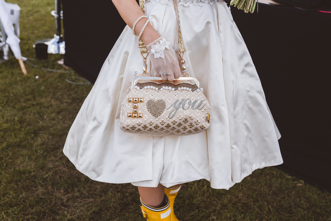 bespoke-vintage-style-bag-jen-and-mat's-festival-wedding-at-Scraptoft farm