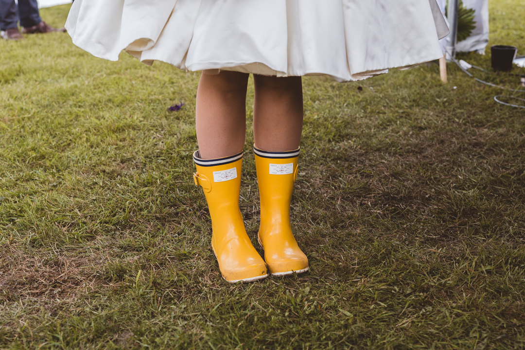bride-in-wellies-jen-and-mat's-festival-wedding-at-Scraptoft farm