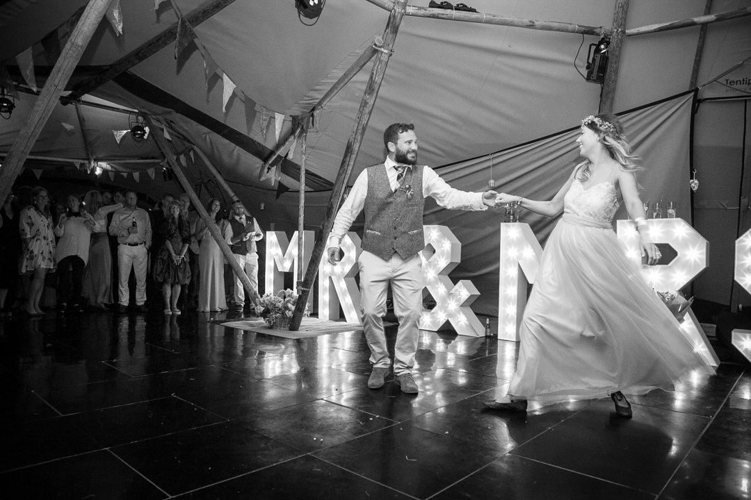 first-dance-sara-and-tims-festival-tipi-wedding