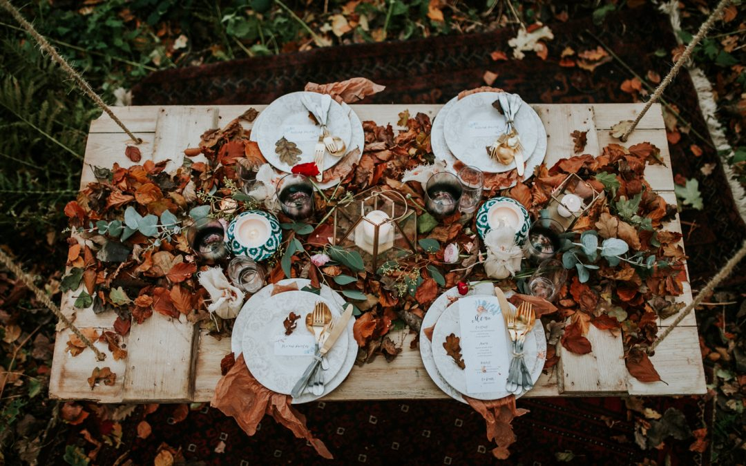 Autumn & Winter Wedding Inspiration | A Styled Decor Shoot in a Hidden Woodland in Norfolk