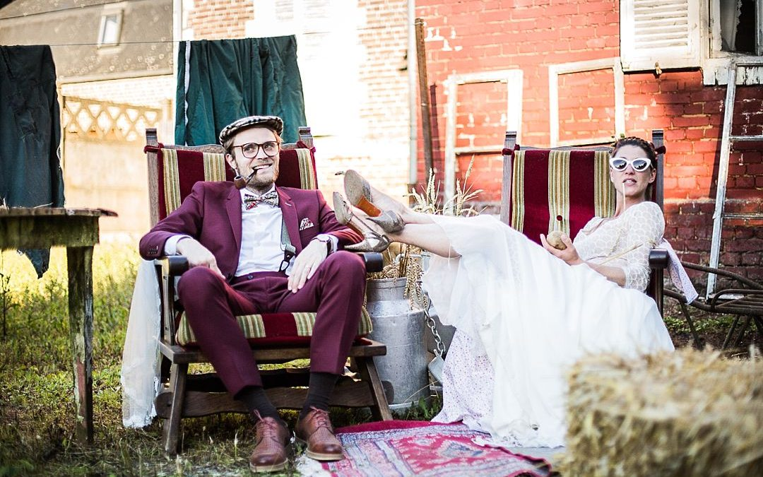 Lucas and Charlotte's Cool and Quirky French Farm House Wedding
