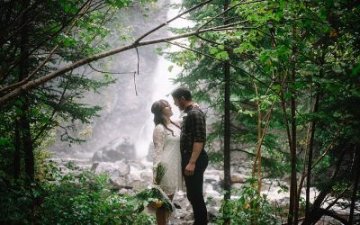 An Intimate and Free Spirited Rainy Woodland & Mountain Elopement Editorial
