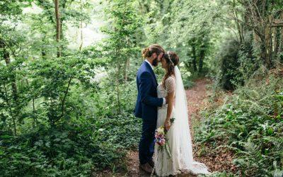 Mark and Mia's Relaxed Eco Enchanted Woodland Wedding