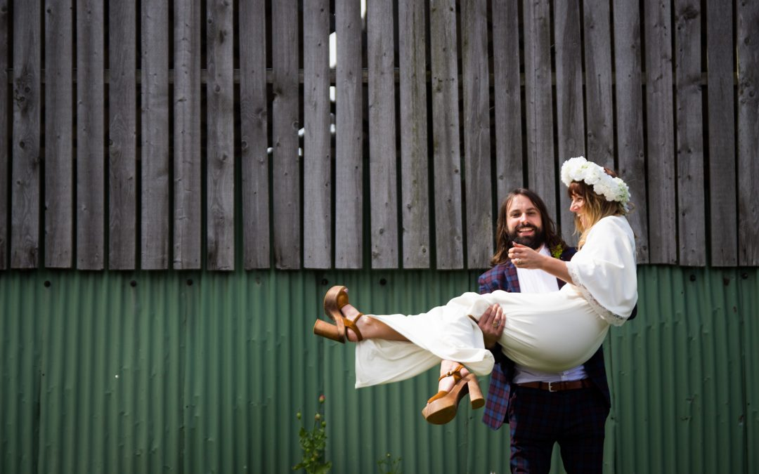 Annie & Richard's 1970's Bohemian Tipi Wedding Garden Party