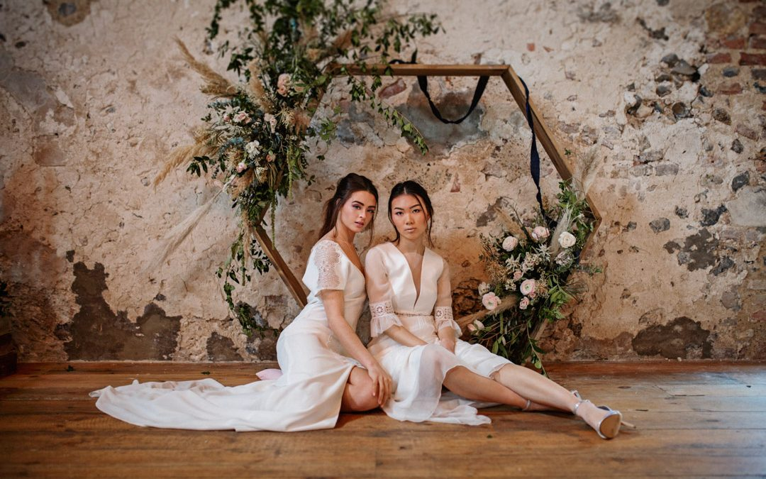 A Contemporary, Minimal Wedding Shoot with Modern Bridal Fashion