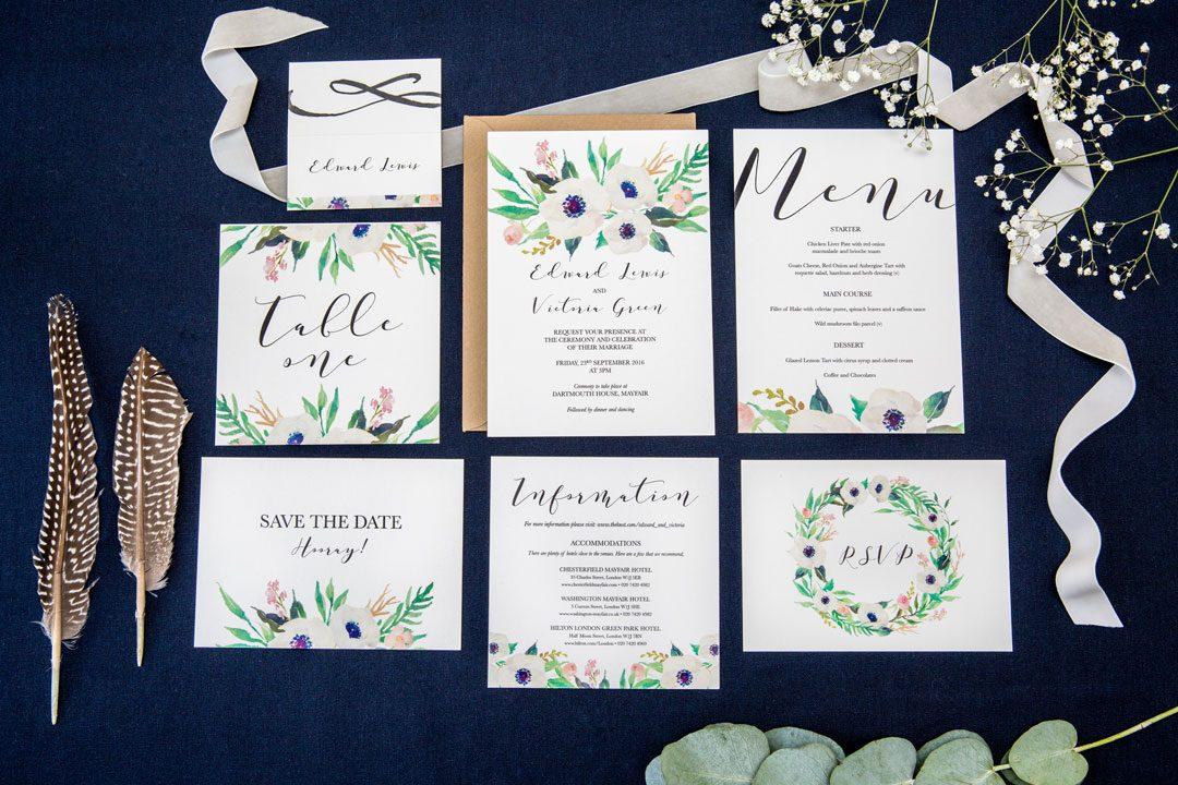 darling rose wedding stationery