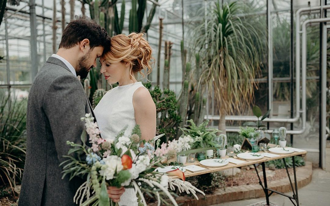 A Botanical Themed Wedding Shoot By Rock The Frock Bridal Boutique