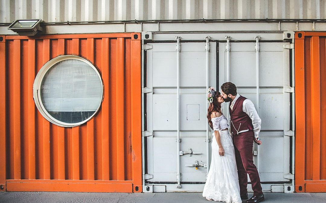 Jules and Tom's Industrial Urban City Wedding