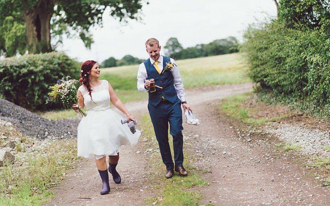 Cath and Danny's Cheshire Farmer's Field Outdoor Tipi Wedding