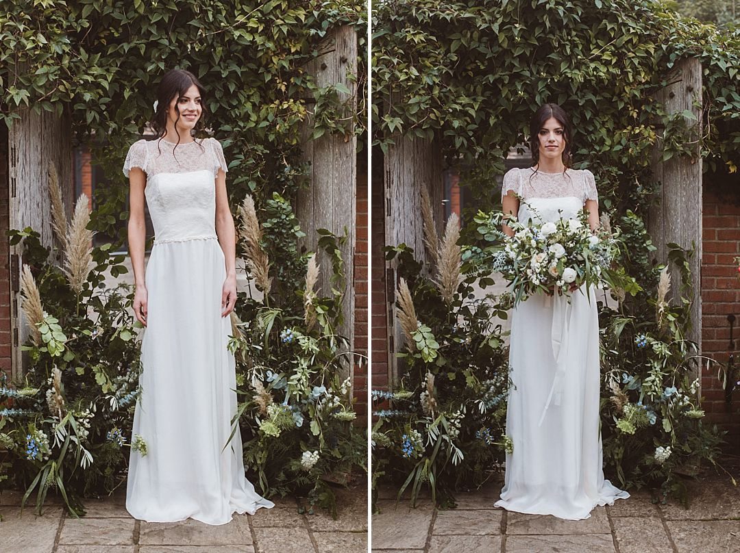 Beautiful bohemian style wedding dress and separates by Jessica Turners Designs