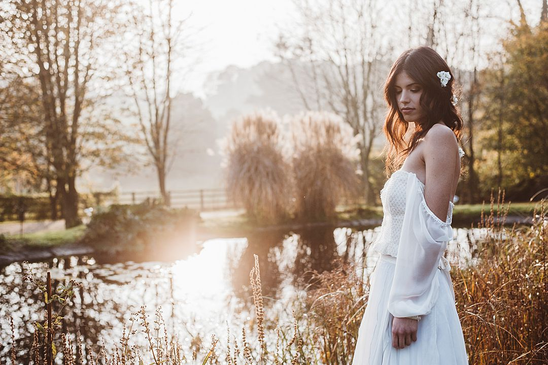 boho-bride-by-a-lake-in-Jessica-Turner-Designs-Knitted-Bridal-Separates