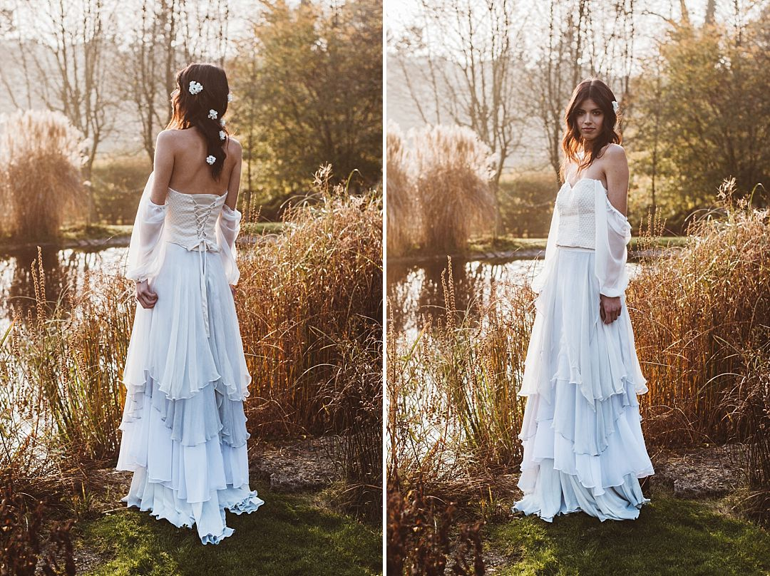 boho-bride-by-a-lake-wearing-Jessica-Turner-Designs-Knitted-Bridal-Separates