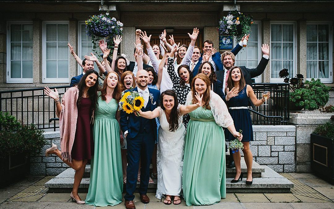 Hana and Phil's Blue and Yellow Nautical Themed Seaside Wedding in St Ives
